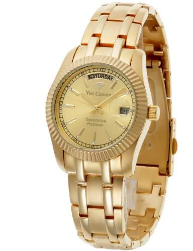 Yves Camani Herrenuhr Quarz Armband Edelstahl beschichtet Mineralglas YAARDS goldgold YC1024-A