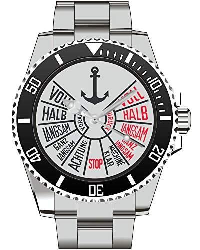 Seemann Uhr Top Geschenk fuer Seefahrer - Schoene Geschenkidee Uhr 1164