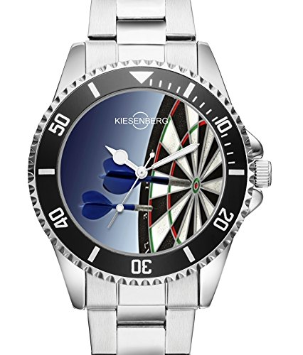 Damen Uhr Dartscheibe Dartpfeile Dartboard Kiesenberg Armbanduhr 1966