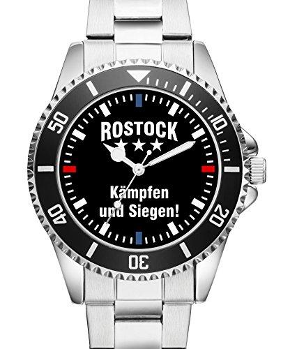 Damen Uhr Rostock Kaempfen und Siegen Supporter Fan Armbanduhr 2340