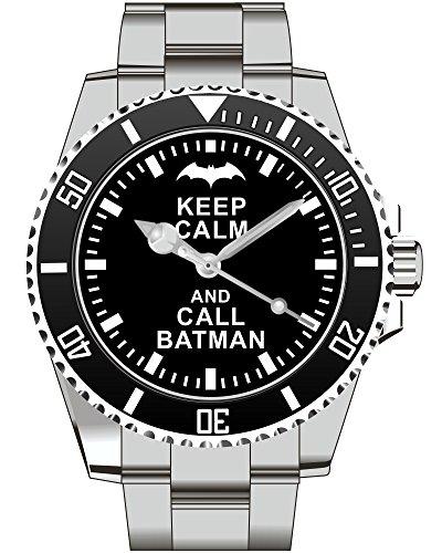 Keep calm and call BATMAN Superheld Comic Hero Kiesenberg Uhr 1839