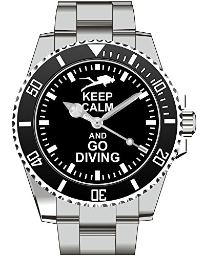 Keep calm and go DIVING Uhr 2128