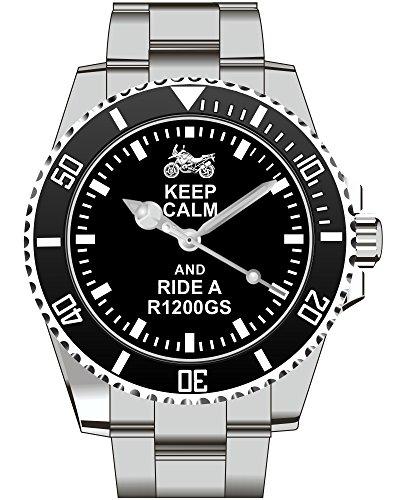 Keep calm and drive a R1200GS Motorrrad Kiesenberg Uhr 1842