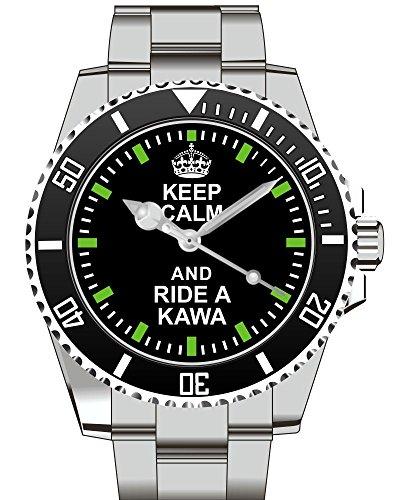 Keep calm and ride a KAWA Uhr 2116