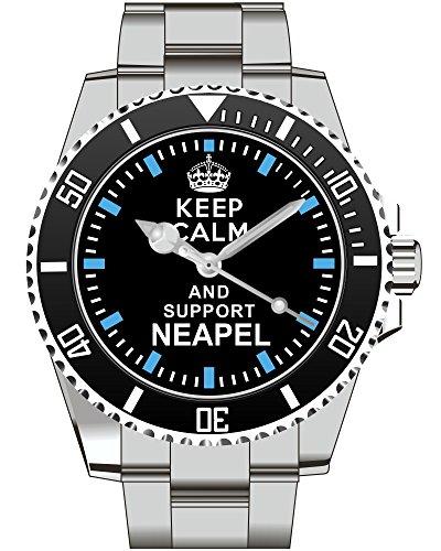 Keep calm and support Neapel Kiesenberg Uhr 1885