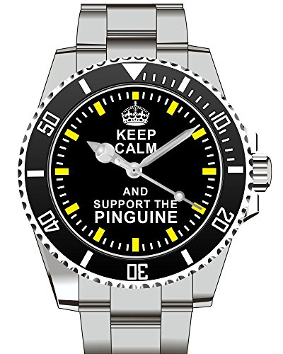 Keep calm and support the PINGUINE Armbanduhr Uhr 2073