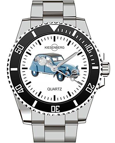 Kiesenberg Oldtimer Modell Uhr 2CV Blau 1815