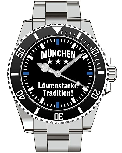 Muenchen Loewen starke Tradition Supporter Fan Armbanduhr 2313