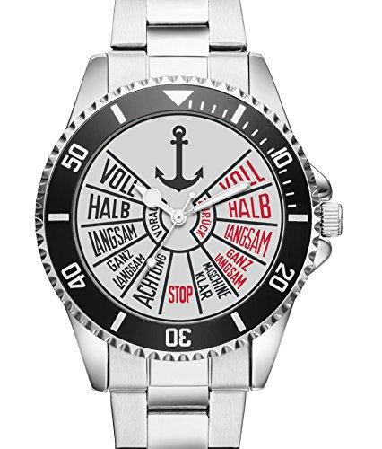 Seemann Schiffer Uhr Top Geschenk fuer Seefahrer Schoene Geschenkidee Uhr 1164