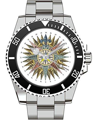 Windrose Alt Uhr Top Geschenk Schoene Geschenkidee 2188