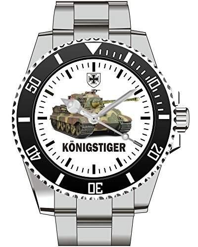 Koenigstiger Tiger 2 Panzer Motiv Uhr - Armbanduhr 1090