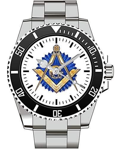 Freimaurer Wappen Abzeichen Motiv Uhr - Armbanduhr 1126