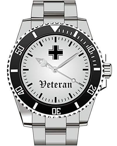 Veteran Bundeswehr Kriegsheld UEberlebender Armbanduhr - Uhr 1129
