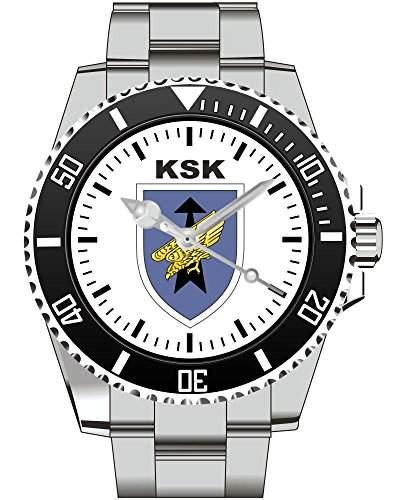 KSK Wappen Barettabzeichen Spezialeinheit Bundeswehr Uhr Armbanduhr 1130