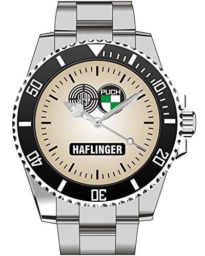 Steyr Puch Werke OEsterreich Haflinger Motiv Uhr - Oldtimer Armbanduhr 1158