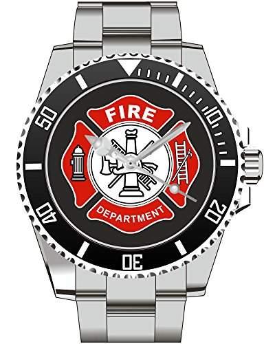 Kiesenberg Feuerwehr Geschenk Geschenkartikel Geschenkidee Armbanduhr fuer Maenner Uhr 1162