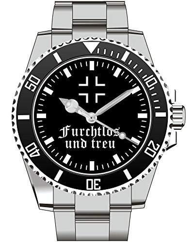 Furchtlos und Treu BW Bundeswehr Wappen Uhr - Armbanduhr 1329