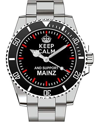 Keep calm and support MAINZ - Armbanduhr - Uhr 1336