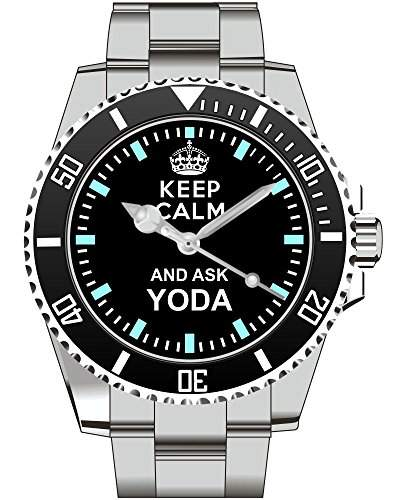 Keep calm and ask YODA - Armbanduhr - Uhr 1370