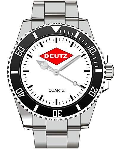 Deutz Traktor Trecker Schlepper Classic Emblem Motiv Uhr - Armbanduhr 1377