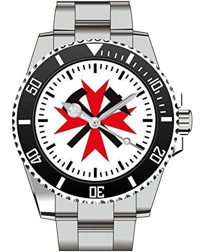 Grubenwehr Bergbau Glueck Auf Zeche Motiv Uhr - Armbanduhr 1455