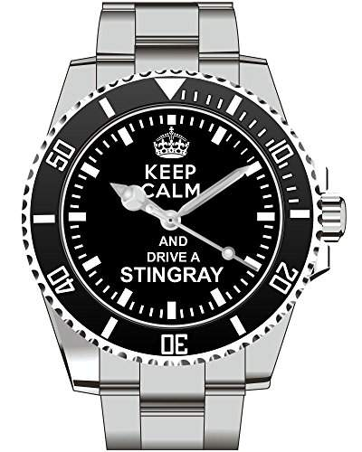 Uhr 1486 - Keep calm and drive a STINGRAY - Fuer Corvette Fans