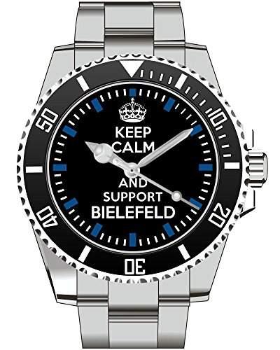 Keep calm and support BIELEFELD - Armbanduhr - Uhr 1562