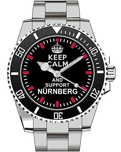 Keep calm and support NUERNBERG - Armbanduhr - Uhr 1563