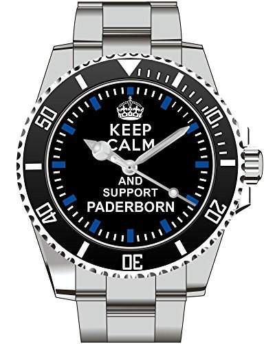 Keep calm and support PADERBORN - Armbanduhr - Uhr 1566