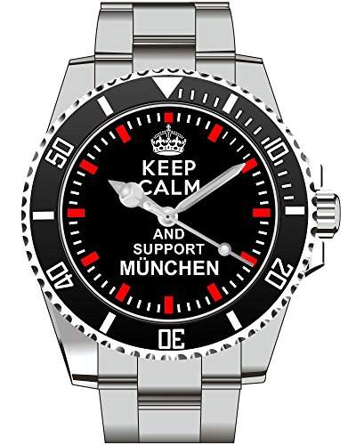 Keep calm and support MUENCHEN - Armbanduhr - Uhr 1567