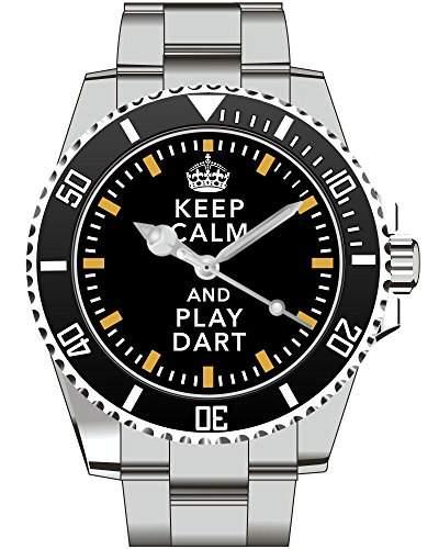 Keep calm and play DART - Armbanduhr - Uhr 1569
