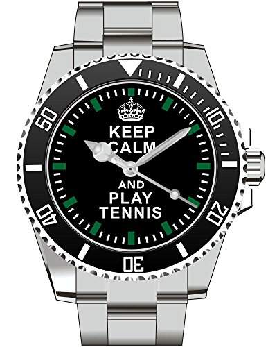 Keep calm and play TENNIS - Armbanduhr - Uhr 1570