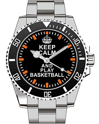 Keep calm and play BASKETBALL - Armbanduhr - Uhr 1571