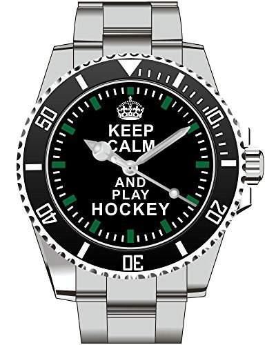 Keep calm and play HOCKEY - Armbanduhr - Uhr 1572