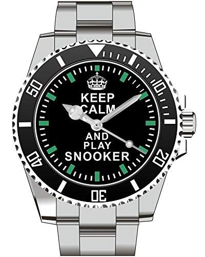 Keep calm and play SNOOKER - Armbanduhr - Uhr 1574