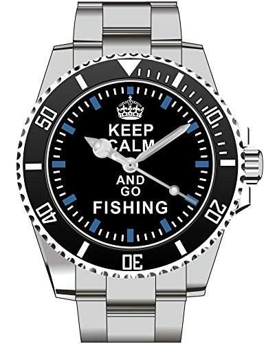 Keep calm and go FISHING - Armbanduhr - Uhr 1575