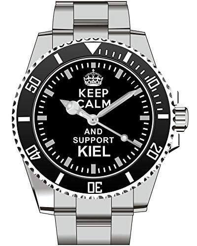 Keep calm and support KIEL - Armbanduhr - Uhr 1590