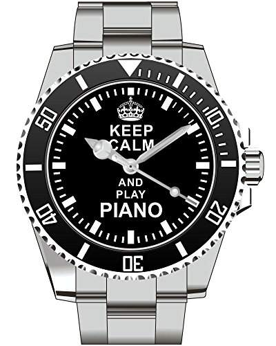 Uhr 1628 - Keep calm and play Piano Klavier