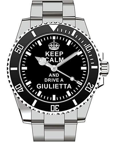 Keep calm and drive a Giulietta - Uhr 1641