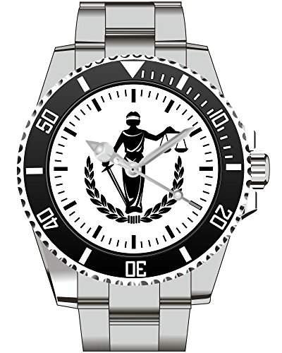 Kiesenberg Uhr Geschenkidee Geschenk fuer Maenner Anwalt Gericht Justicia - Armbanduhr 1802