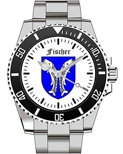 Kiesenberg Uhr Geschenkidee Geschenk fuer Maenner Fischer Zunftzeichen - Uhr 1804