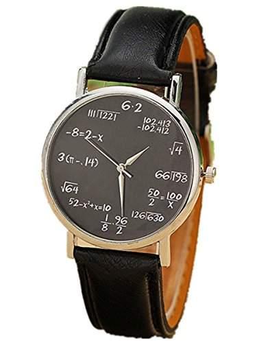 Thalia Numbers Symbol Watch Mode Zahlen Symbol Damen Armbanduhr Analog Quarz Lederband Damenuhr Schwarz  Splitter Black