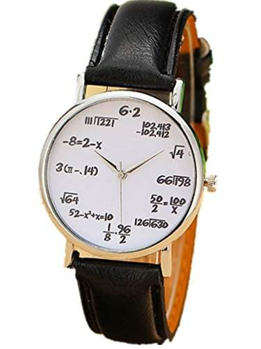 Thalia Numbers Symbol Watch Mode Damen Armbanduhr Leder Damenuhr Schwarz Weiss  Splitter
