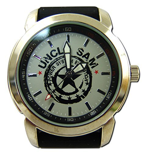 Uncle Sam Armbanduhr Silver Edition Silber Star Edel Watch Uhren Unclesam Arm Band Uhr Zeit