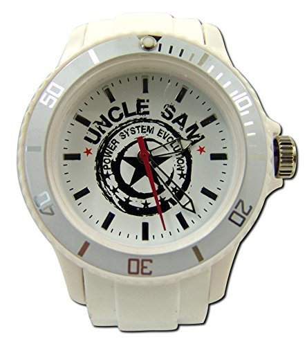 Uncle Sam Armbanduhr Woman Edition Weiss Damenuhr Lady Watch Uhren Uhr Unclesam