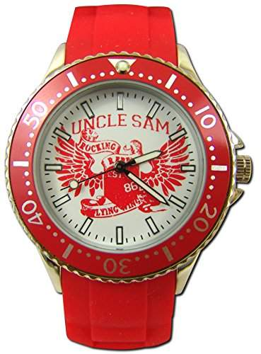 Uncle Sam Armbanduhr Woman Edition Rot Damenuhr Lady Watch Uhren Uhr Unclesam