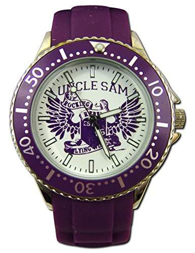 Uncle Sam Armbanduhr Woman Edition Violett Damenuhr Lady Watch Uhren Uhr Unclesam