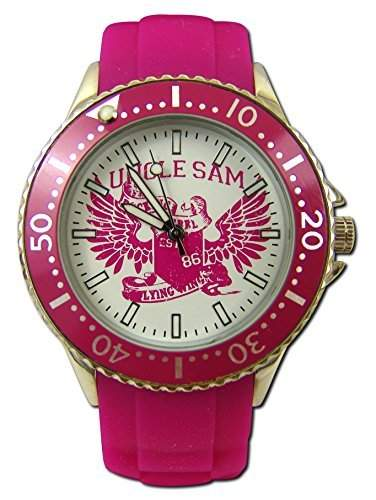 Uncle Sam Armbanduhr Woman Edition Pink Damenuhr Lady Watch Uhren Uhr Unclesam