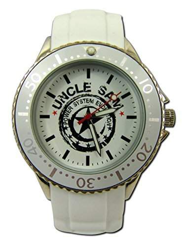 Uncle Sam Armbanduhr Woman Edition Weiss Silber Damenuhr Lady Watch Uhren Uhr Unclesam