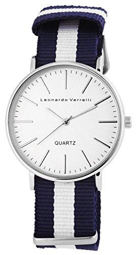 Leonardo Verrelli Unisex Uhr Armbanduhr mit Textilarmband
